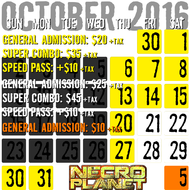 Prices for NecroPlanet