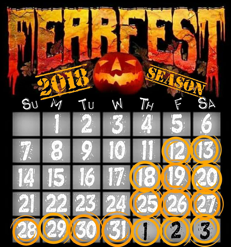 FearFest Dates & Hours of Operation